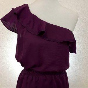 NWT Max Studio One Shoulder Midi Dress, Size M